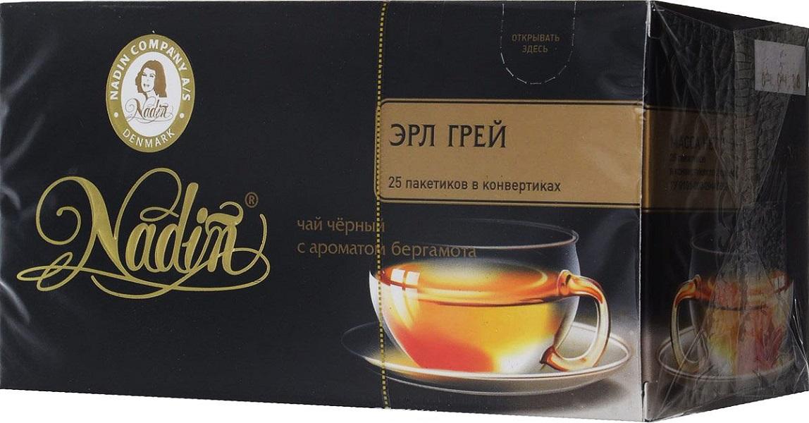 Чай черный Nadin эрл грей 25 пакетиков