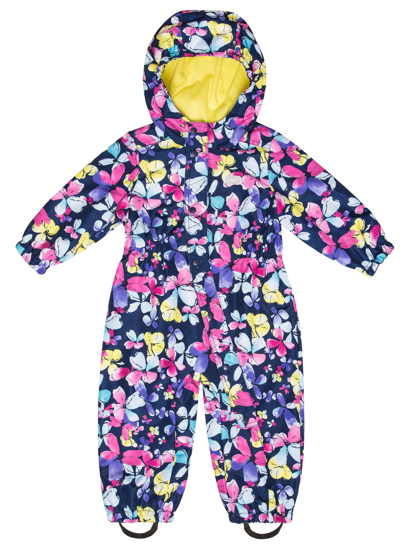 Купить Комбинезон для девочки Barkitoтемно-синий с рисунком бабочки р.86, Детские комбинезоны для мальчиков