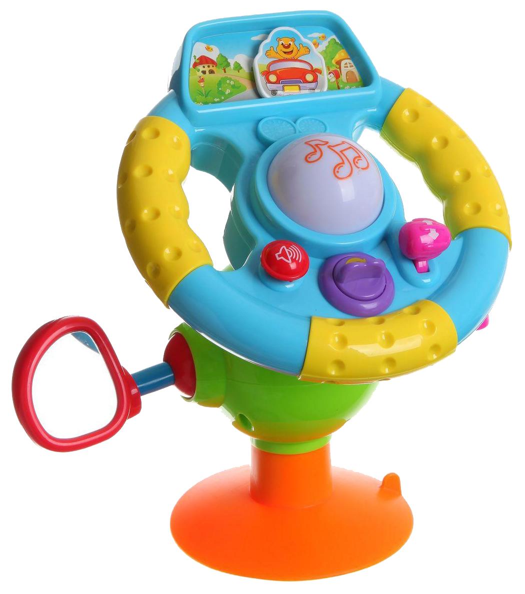 картинка Развивающая игрушка PLAYSMART Веселый шофер со звуковыми и световыми эффектами от магазина Bebikam.ru