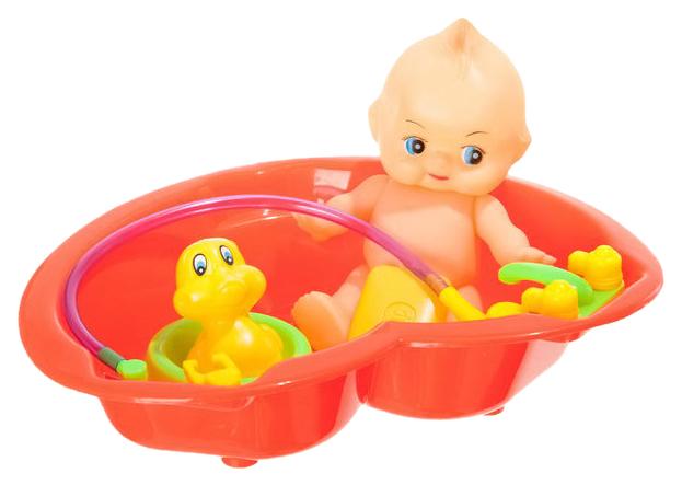 Пупс с утенком в ванночке Shenzhen toys 388A