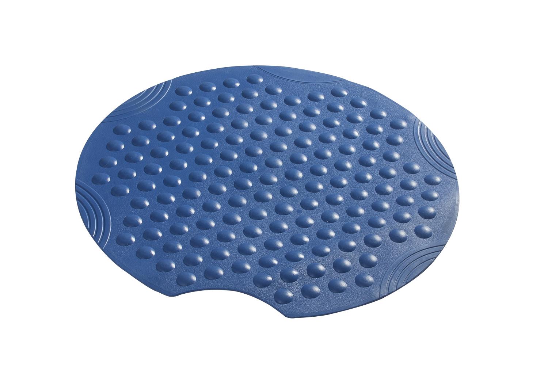 Коврик противоскользящий Tecno+ синий, Ø 55 см