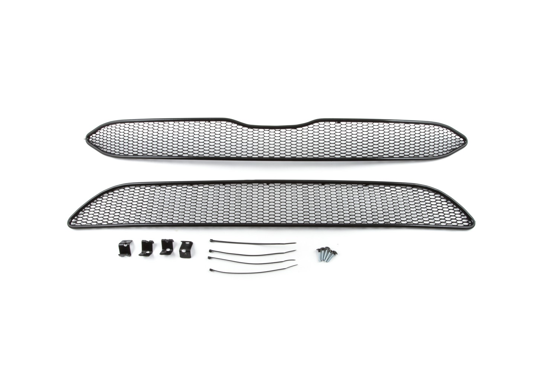 Сетка на бампер внешняя arbori для Honda CR-V 2.4 2015-2019, 2 шт., черная, 20 мм сота