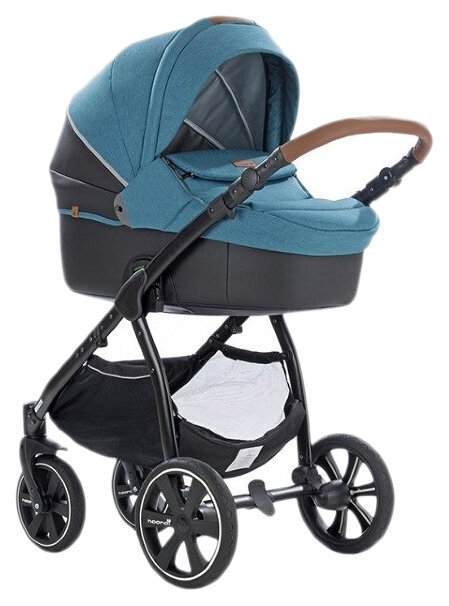 Купить Коляска детская 2 в 1 Noordi Fjordi Melange Sport Leather 662847/SP Бирюзовый,