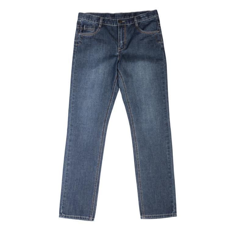 Купить Брюки текстильные джинсовые для мальчиков(140), 363079 синий деним EAN 4690244727595, S'Cool, Детские джинсы