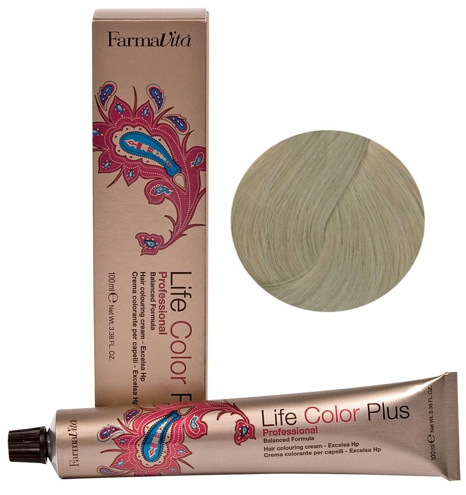 Краска для волос Farmavita Life Color Plus 10.7 Очень светлый блондин коричневый кашемир фото