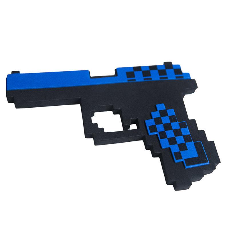 Купить Пистолет Глок 17 8Бит Pixel Crew Синий пиксельный 22см, Мечи, кинжалы и копья