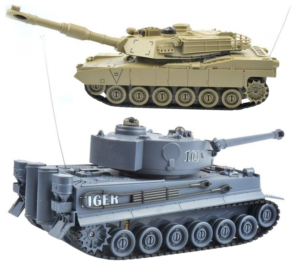 Танковый бой Zegan Tiger vs Abrams 2.4G 99822