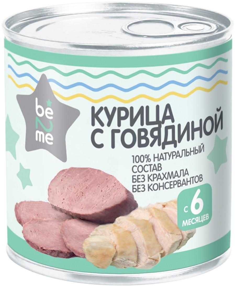 Купить Пюре мясное Be2Me Курица с говядиной с 6 мес. 100 г, Мясное пюре