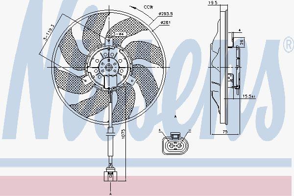 Вентилятор охлаждения двигателя NISSENS 85806