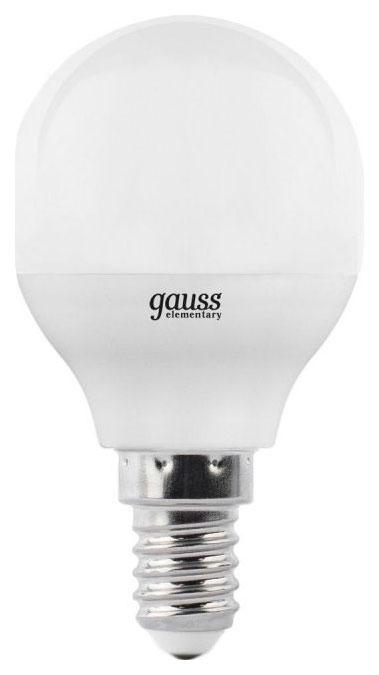 Лампочка Gauss Elementary G45 E14 8W 2700K 53118