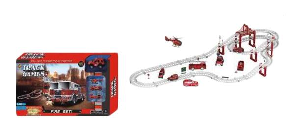 Купить Автотрек Наша Игрушка Пожарная бригада 663-X3, Наша игрушка, Детские автотреки