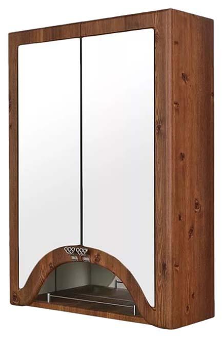 Шкаф зеркальный Aqualife Design Пиллау 60, темный