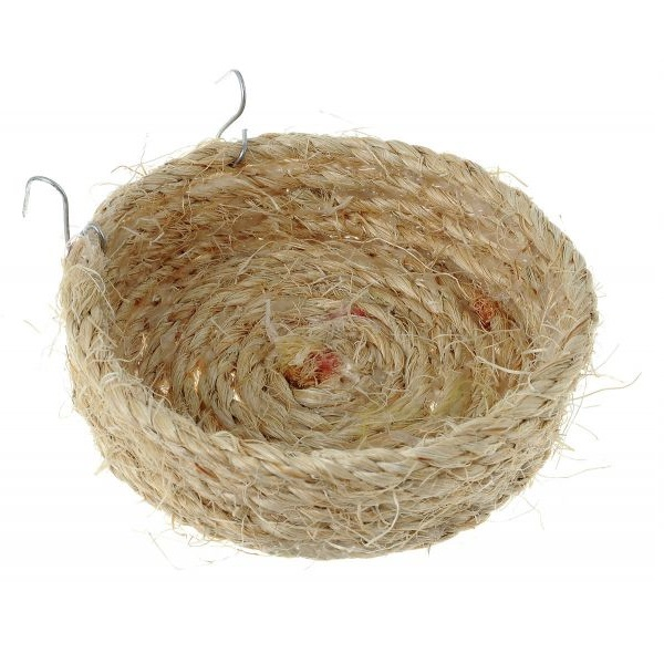 Гнездо плоское для птиц Zoobaloo из сизали,