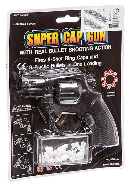 Купить Огнестрельный игрушечный пистолет-пугач NoBrand Super Cap Gun 8248A, Игрушечные пистолеты