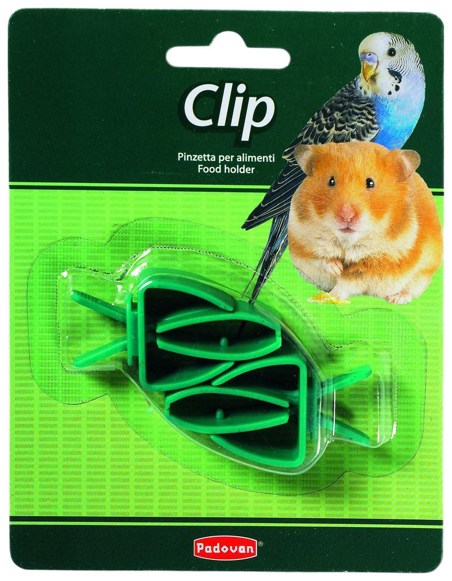 Держатель для фиксации корма Padovan Clip для клеток грызунов и птиц