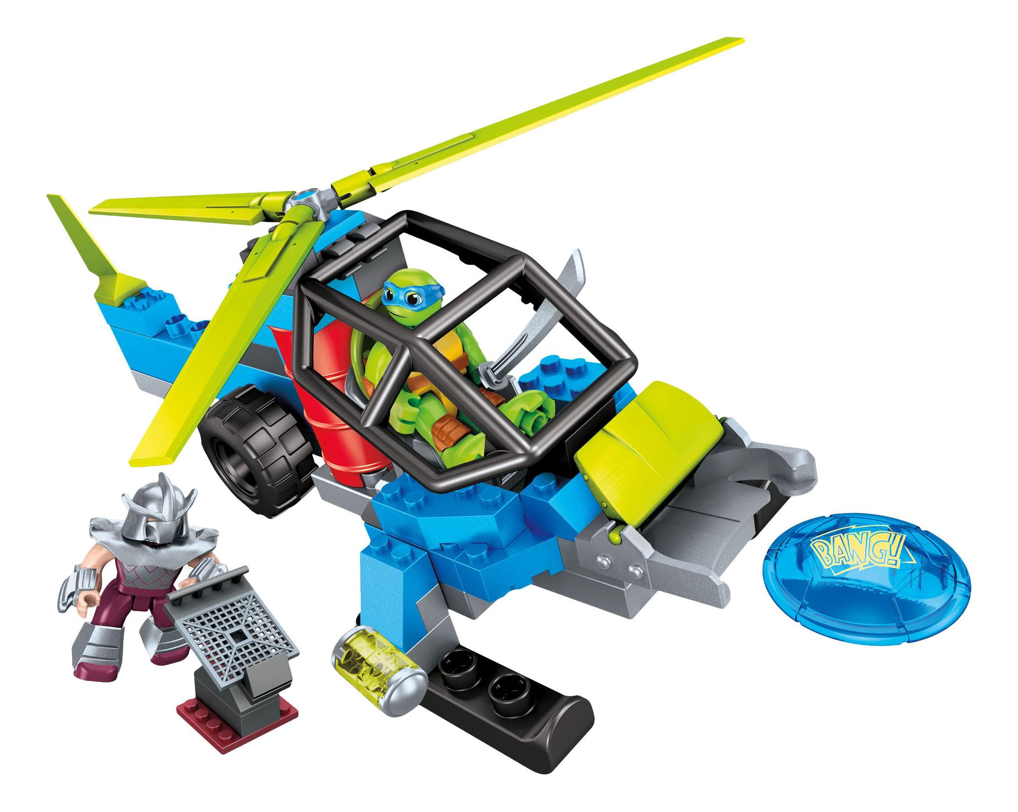 Купить Черепаший вертолёт, Конструктор черепашки-малыши: черепаший вертолёт, Mega Bloks, Конструкторы пластмассовые