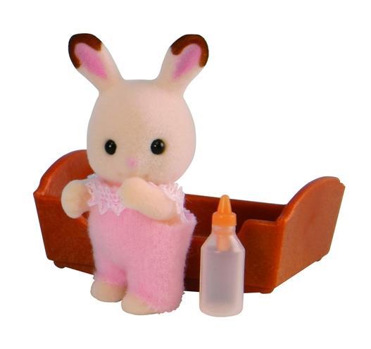 Игровой набор sylvanian families малыш шоколадный кролик фото