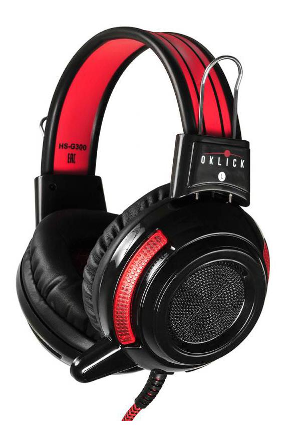 Игровая гарнитура OKLICK AH V1 Red/Black