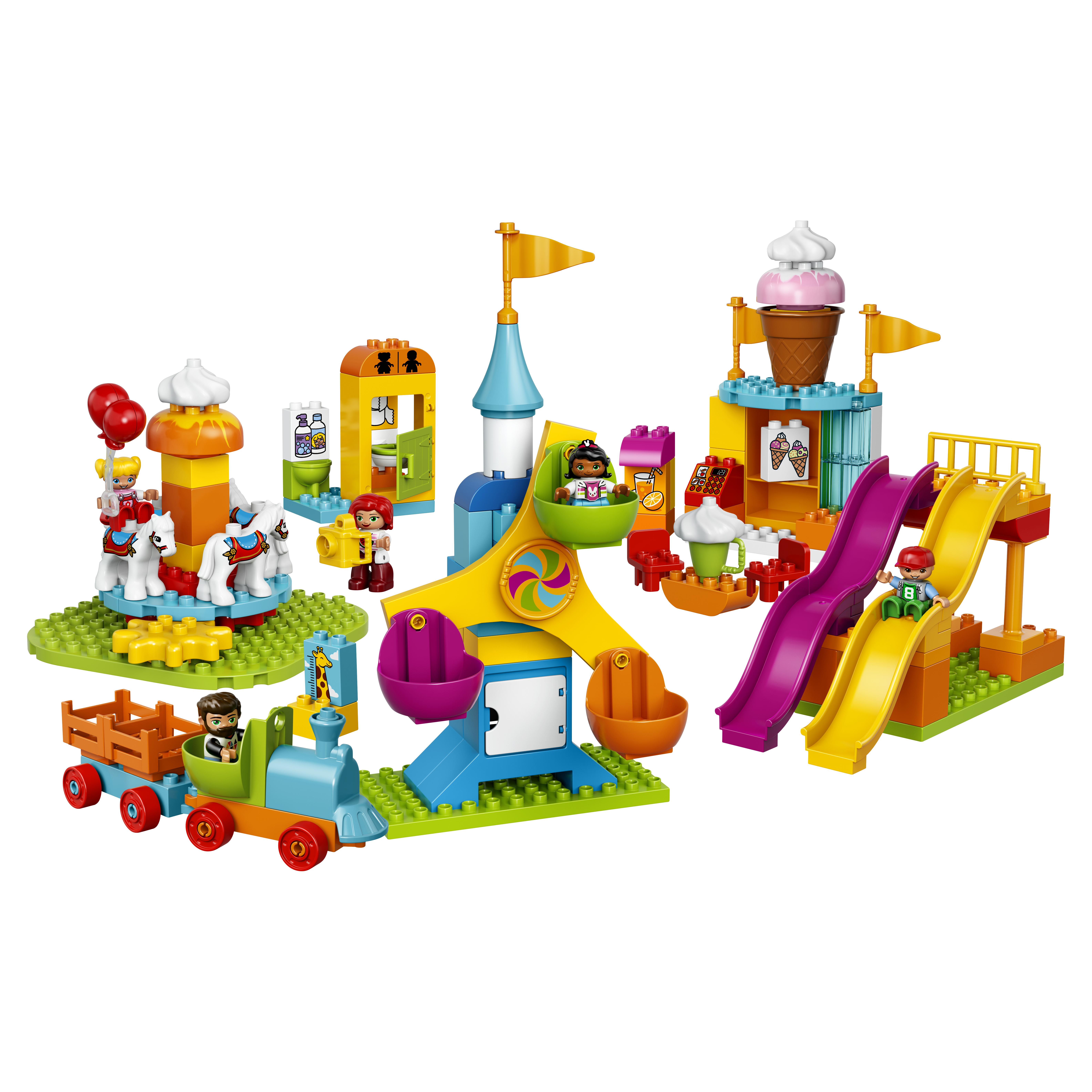 Конструктор LEGO Duplo Town Большой парк аттракционов