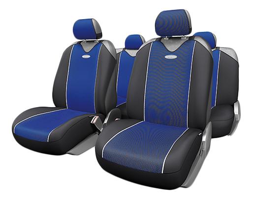 Комплект чехлов-маек Autoprofi Carbon Plus CRB-902P BK/BL фото