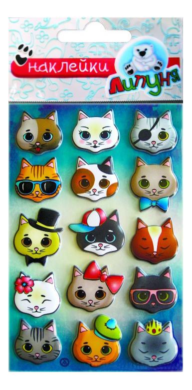Купить Кошки, Наклейка декоративная для детской комнаты Липуня Кошки, Аксессуары для детской комнаты