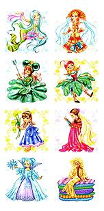 Наклейка декоративная для детской комнаты Детство-Пресс Девочки