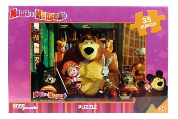Купить Пазл Step Puzzle Maxi Маша и Медведь 35 деталей, Пазлы