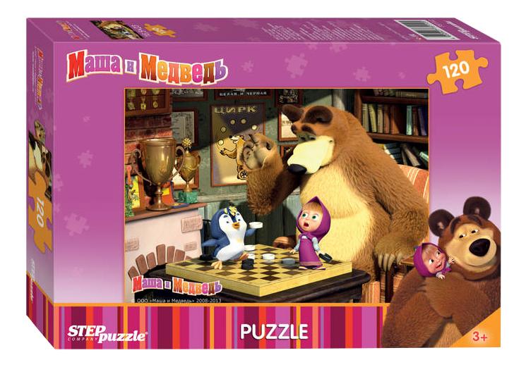 Купить Маша и Медведь, Пазл Step Puzzle Маша и медведь 120 деталей, Пазлы