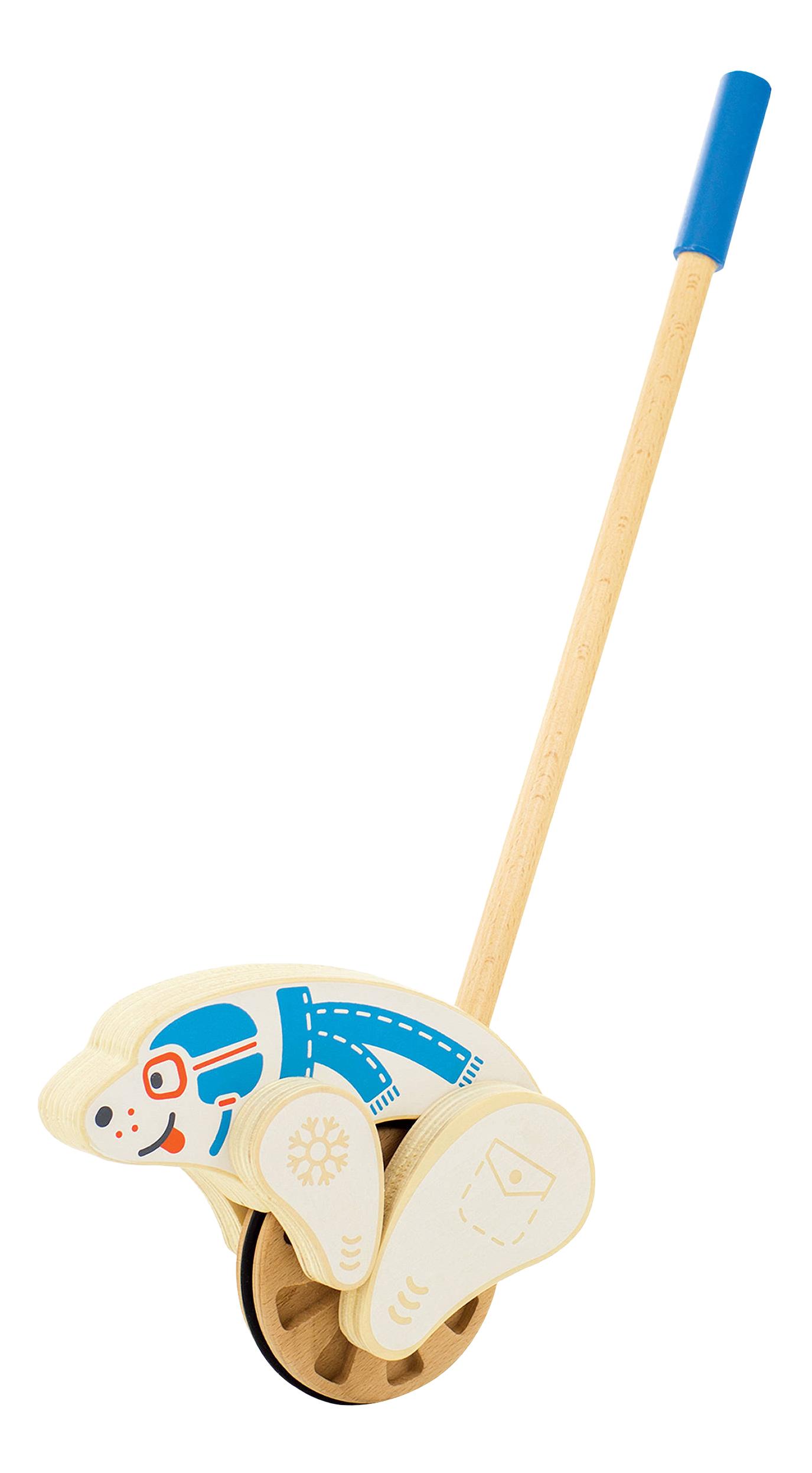 Каталка детская Игрушки из дерева Мишка.