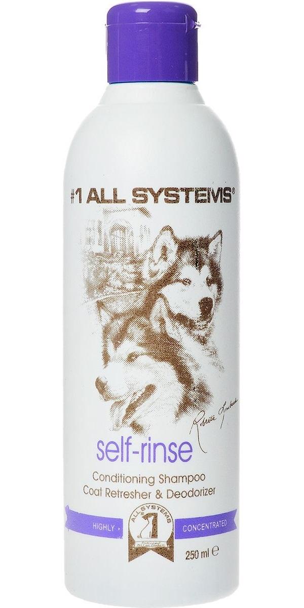 Шампунь для кошек и собак 1 All Systems Self-rinse Conditioning, без смывания, 250 мл