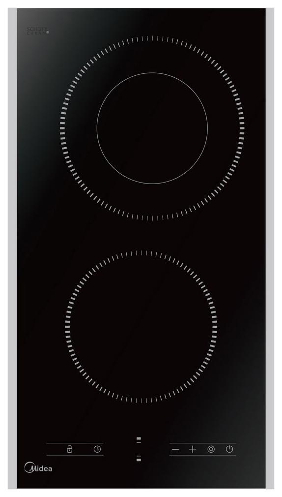 Встраиваемая варочная панель электрическая Midea MCH 32329 FX Black фото