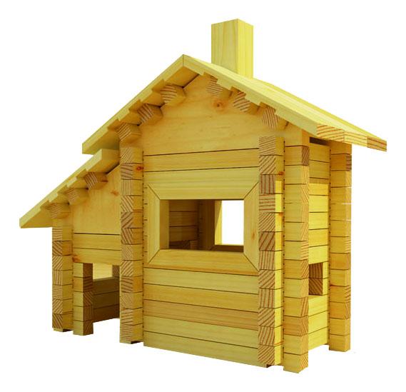 Конструктор деревянный Лесовичок Разборный домик №1