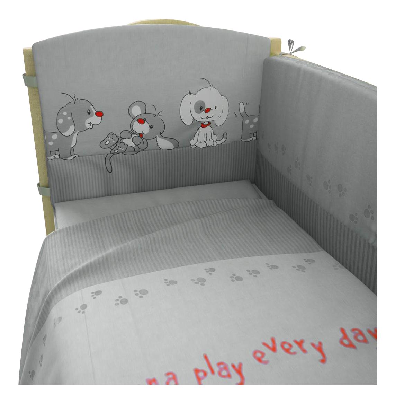 Комплект детского постельного белья Тополь Фея Веселая игра серый фото