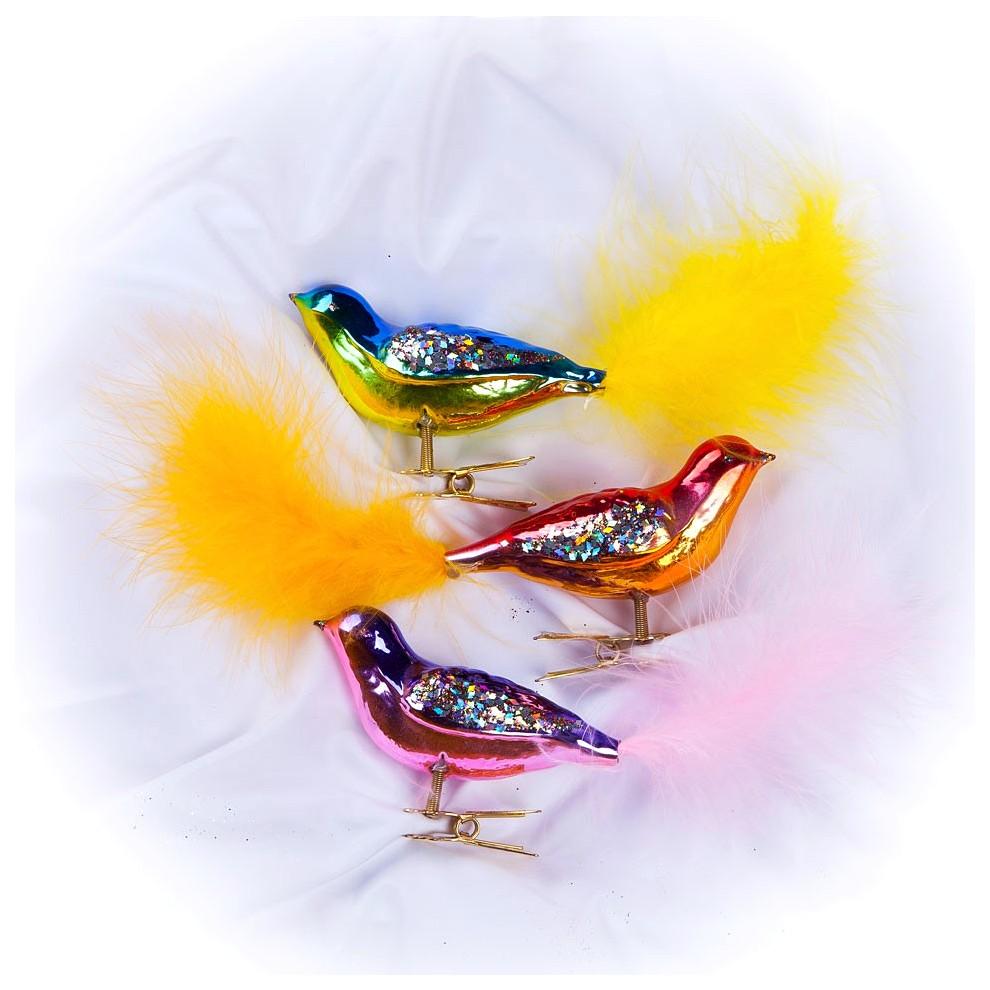 Набор елочных игрушек Елочка Птички разноцветный C611