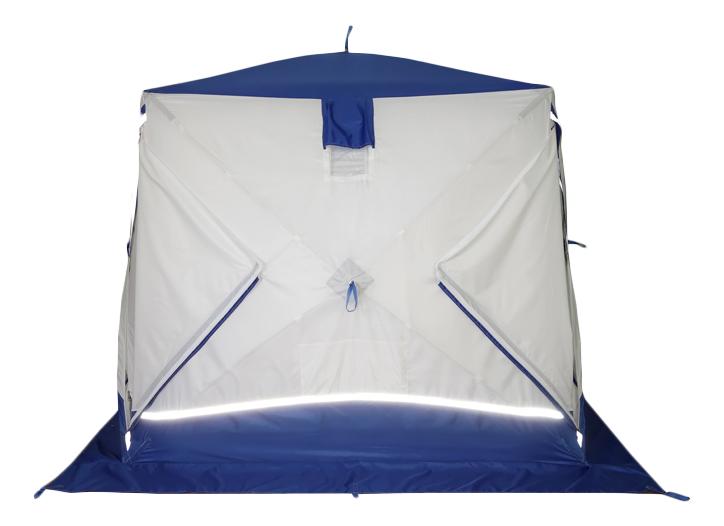 Палатка Пингвин Призма Шелтерс Премиум четырехместная белая/синяя