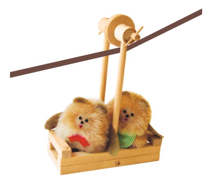 Конструктор деревянный ПЕЛСИ Канатная дорога с куклами