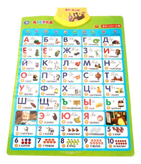 Интерактивный плакат Первая азбука. Маша и Медведь.