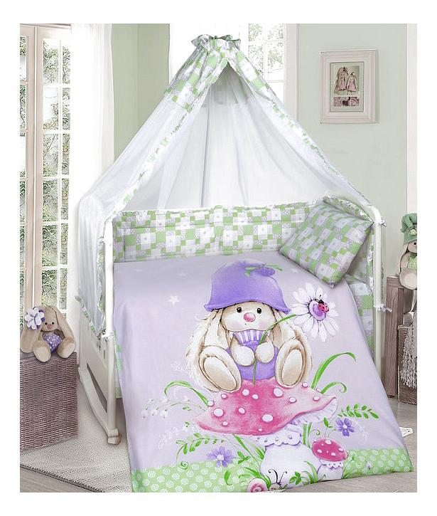 Комплект в кроватку Мона Лиза Зайка-гном 9 предметов, MONA LIZA, Комплекты детского постельного белья  - купить со скидкой