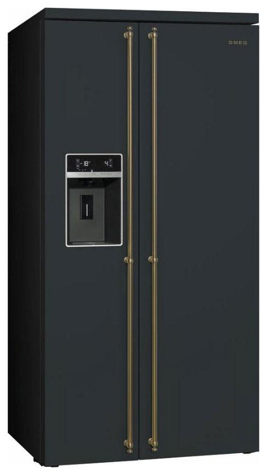 Холодильник Smeg SBS 8004 AO Black фото