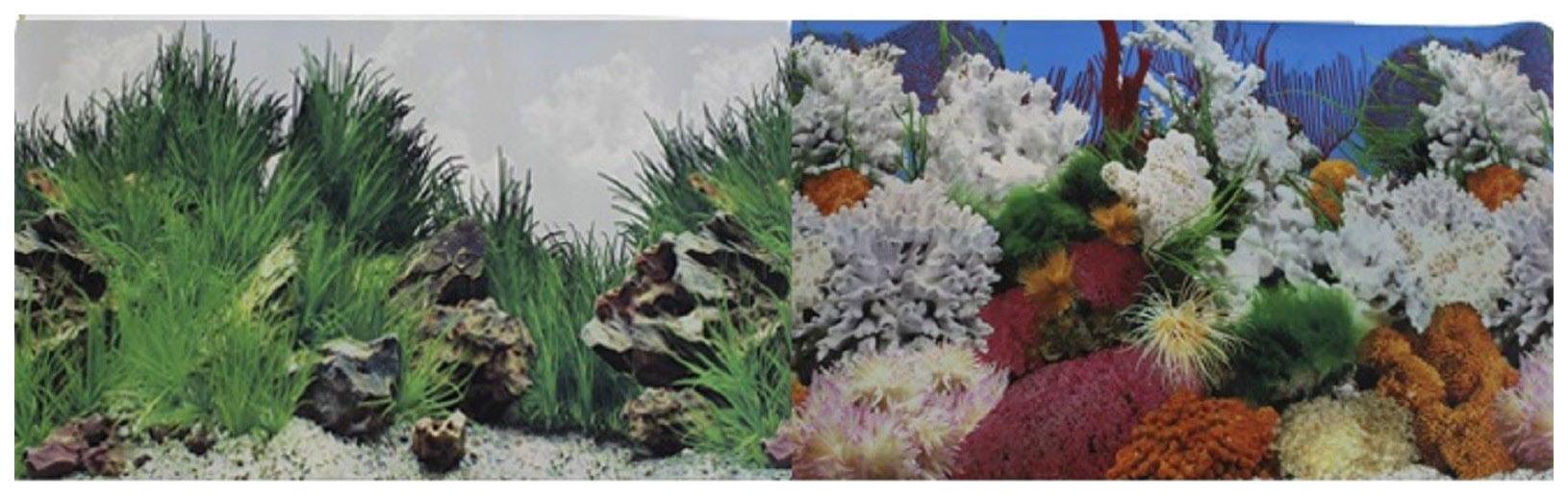 Фон для аквариума Prime Морской пейзаж/Подводный рельеф 60х150см