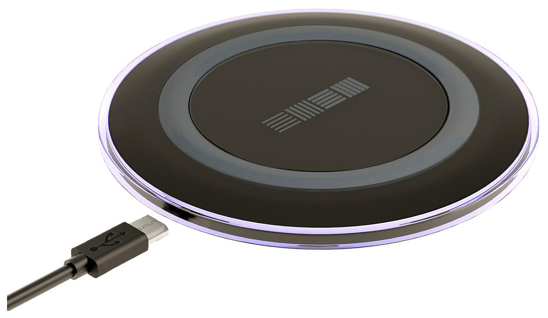 Беспроводное зарядное устройство InterStep QI 1,5А Black
