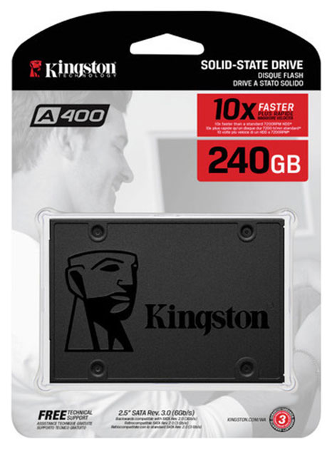 Внутренний SSD диск Kingston A400 240GB  - купить со скидкой