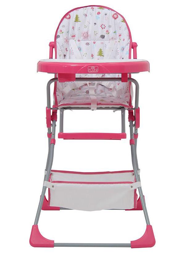 Стульчик для кормления Polini Kids 252 Лесные друзья, Розовый