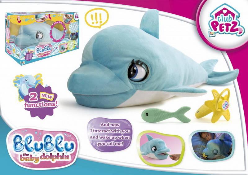 Купить Мягкая игрушка IMC Toys Дельфин интерактивный Blublu со звуковыми эффектами, Интерактивные мягкие игрушки