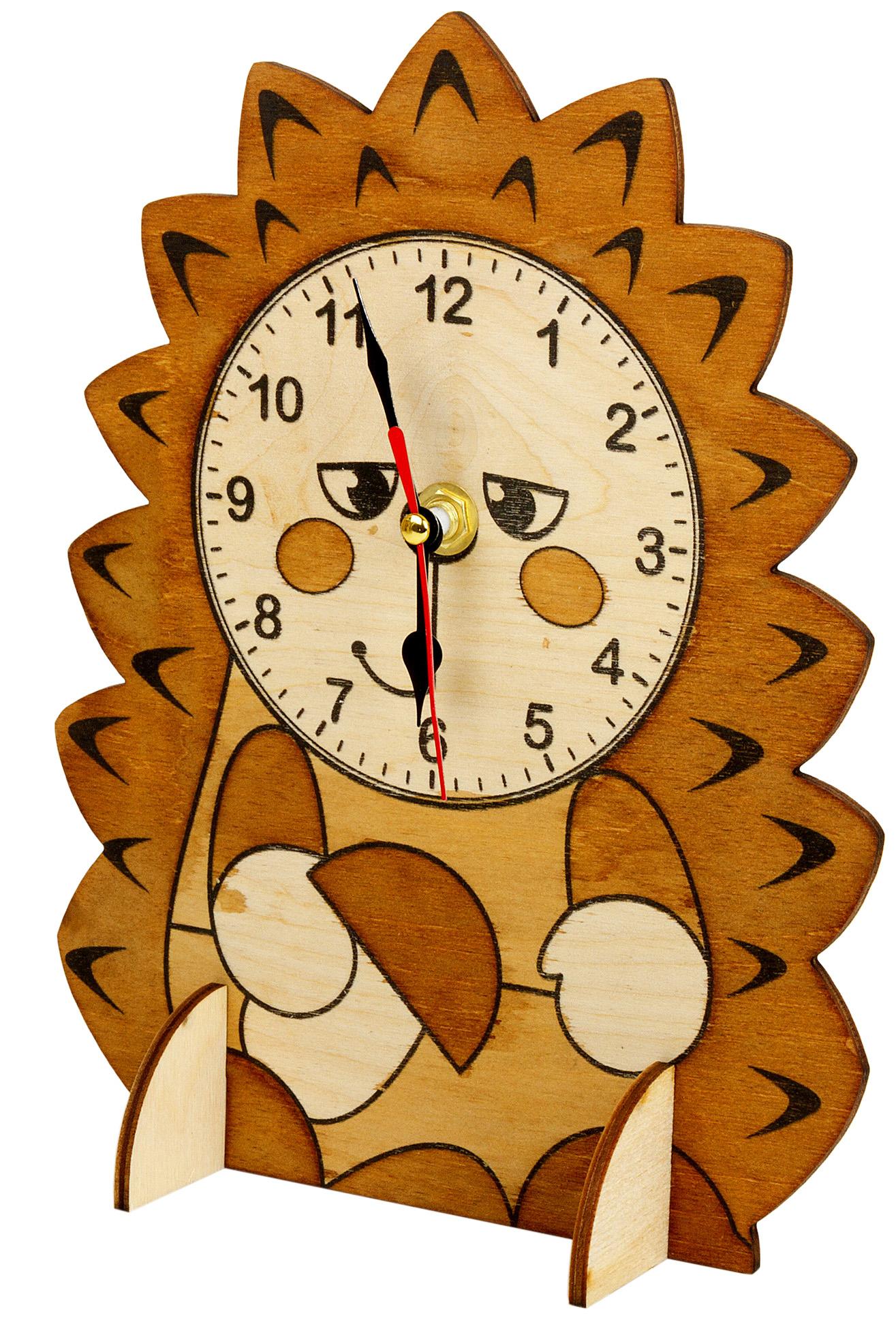 Купить Набор для творчества Десятое Королевство Деревянные часы Ежик,