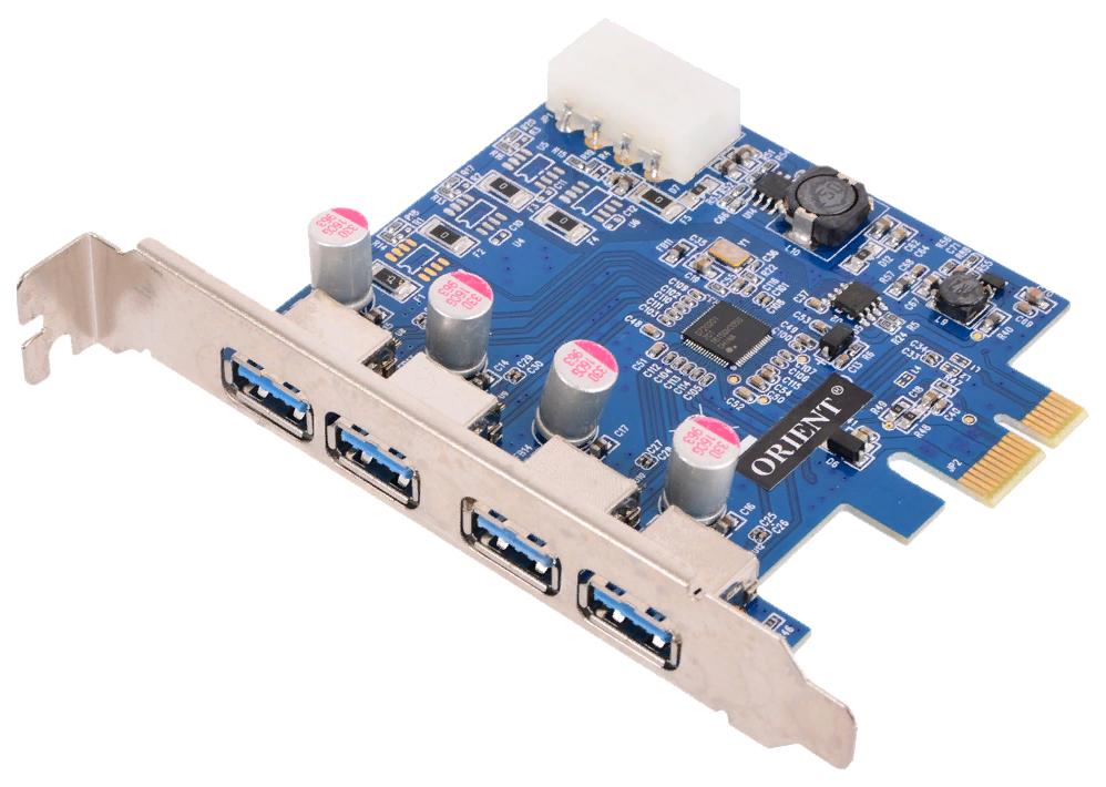 PCI e контроллер USB ORIENT NC 3U4PE