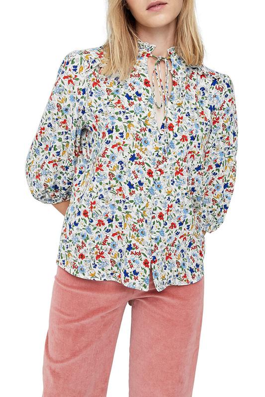 Блуза женская MANGO 13003748-2 белая XS