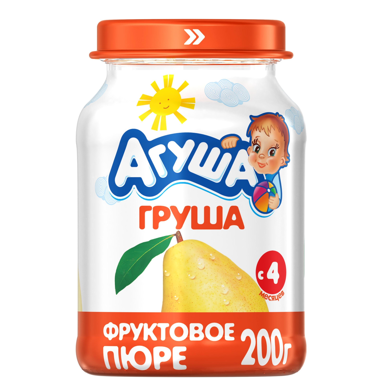 Купить Пюре фруктовое Агуша Груша с 4 мес. 200 г, Фруктовое пюре