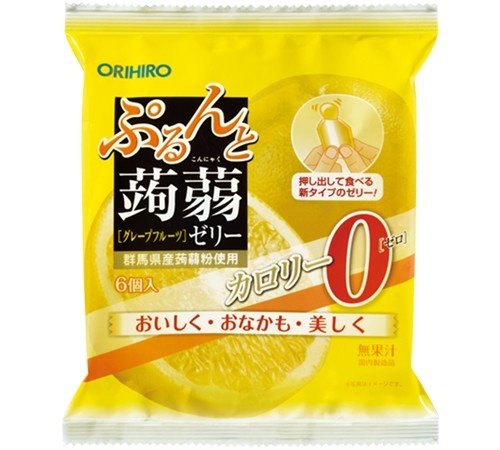 Желе конняку Orihiro лимон-грейпфрут 0 калорий порционное 120 г