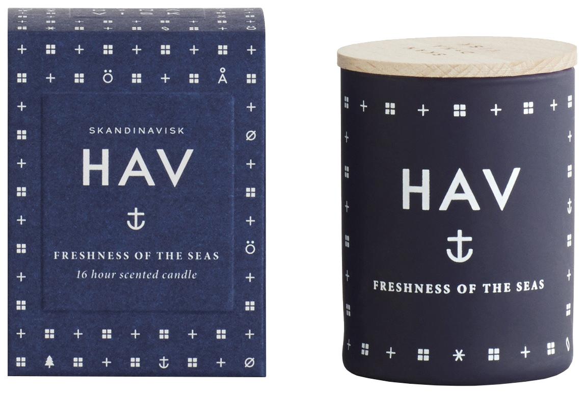 Свеча ароматическая HAV с крышкой, 55 г